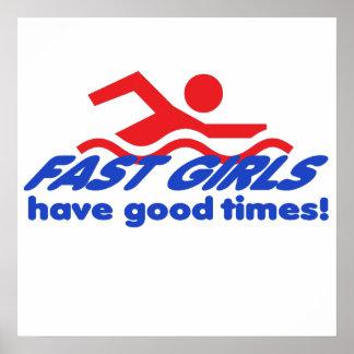 Affiche rapide de filles