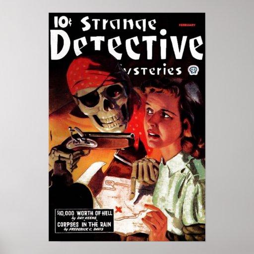 Affiche révélatrice étrange de mystères