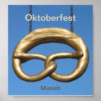 Affiche : Signe Munich de bretzel d'Oktoberfest