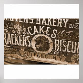 Affiche vintage/copie d'annonce de boulangerie