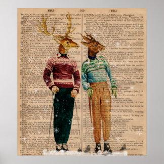 Affiche vintage d'art de page de dictionnaire de c