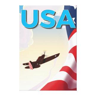 Affiche vintage de la deuxième guerre mondiale des impression sur toile