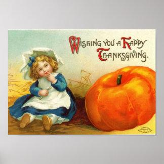 Affiche vintage de thanksgiving