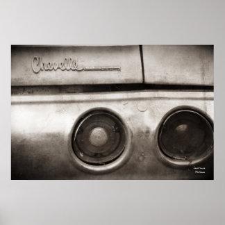 Affiche vintage de voiture de muscle