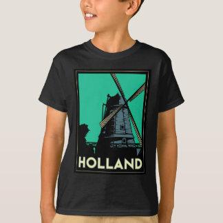 affiche vintage de voyage d'art déco de la t-shirt