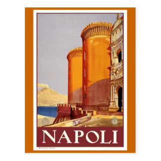 Affiche vintage de voyage de Naples Carte Postale