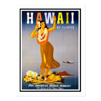 Affiche vintage de voyage, Hawaï Cartes Postales