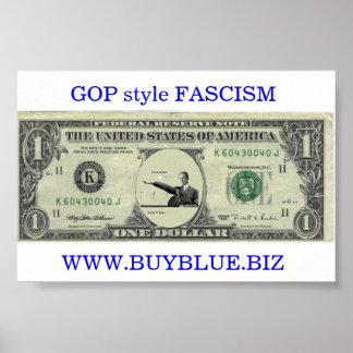 Affiche www buyblue biz de FASCISME de style de GO