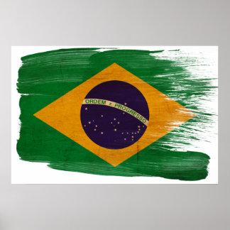 Affiches de drapeau du Brésil