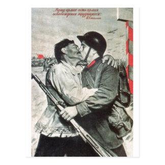 Affiches de propagande d'Union Soviétique de Cartes Postales