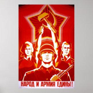 Affiches de propagande d'Union Soviétique de guerr