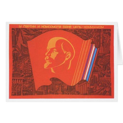 Affiches de propagande d'Union Soviétique de guerr Carte De Vœux