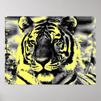 Affiches de tigre de style d'art de bruit