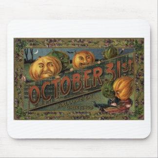 Affiches vintages de classique de cartes de voeux tapis de souris