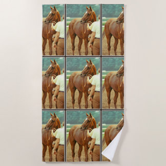 Affirmed Thoroughbred Racehorse 1978 Beach Towel
