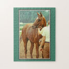Affirmed Thoroughbred Racehorse 1978 Jigsaw Puzzle