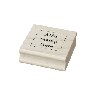 Affix Stamp Here Rubber Stamp