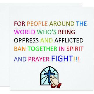 afflicted or oppress prayer fight invitations