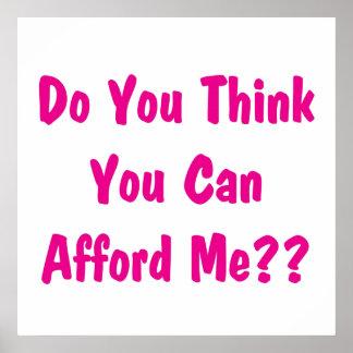 afford me pink poster
