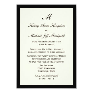 Affordable Cheap Post Wedding Reception Cream Card