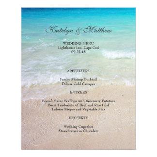 Affordable Ocean and Beach Wedding Menu 4x5