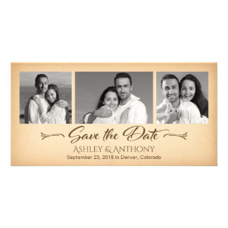 Affordable Photo Collage Wedding Save the Date Photo Greeting Card