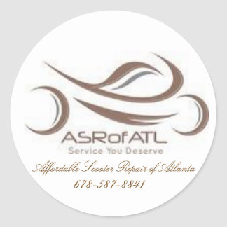 Affordable Scooter Repair of Atlanta Round Sticker