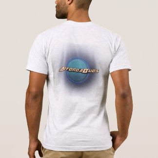 AffordaBuds T-Shirt - Front + Back logo - Ash Grey