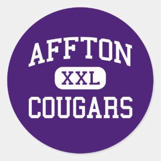 Affton - Cougars - High - Saint Louis Missouri Classic Round Sticker