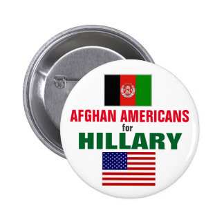 Afghan Americans for Hillary 2016 2 Inch Round Button
