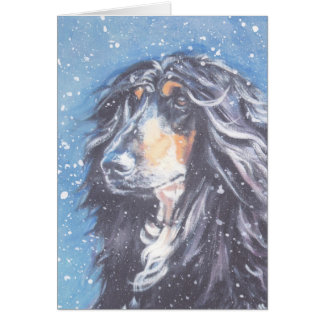 Afghan Dog Christmas Card