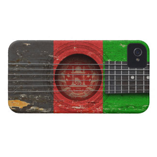 Afghan Flag on Old Acoustic Guitar iPhone 4 Case-Mate Case