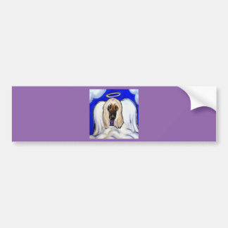 Afghan Hound Angel Bumper Sticker