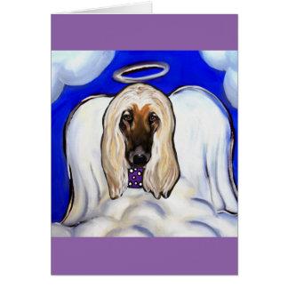 Afghan Hound Angel Card