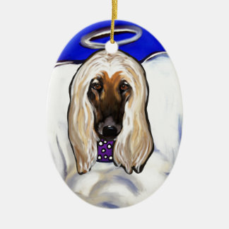 Afghan Hound Angel Ceramic Ornament