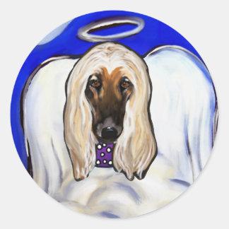 Afghan Hound Angel Classic Round Sticker