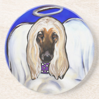 Afghan Hound Angel Coaster