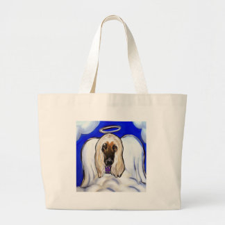 Afghan Hound Angel Large Tote Bag
