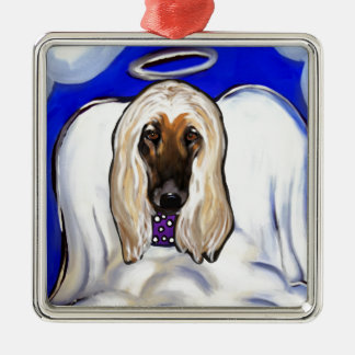 Afghan Hound Angel Metal Ornament