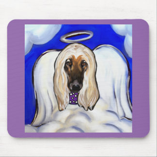 Afghan Hound Angel Mouse Pad