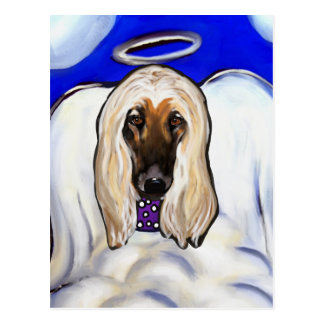 Afghan Hound Angel Postcard