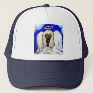Afghan Hound Angel Trucker Hat