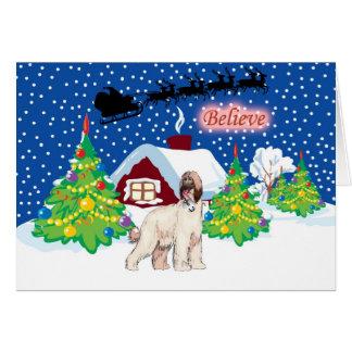 Afghan Hound Believe In Santa Christmas Card