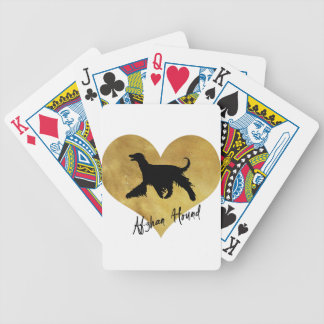 Afghan Hound Bicycle Playing Cards