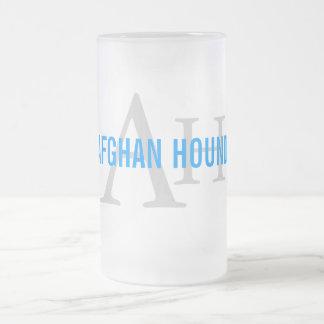 Afghan Hound Breed Monogram 16 Oz Frosted Glass Beer Mug