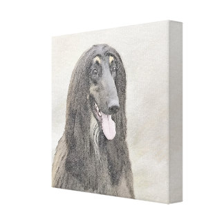 Afghan Hound (Brown) Canvas Print
