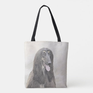 Afghan Hound (Brown) Tote Bag