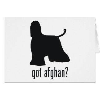 Afghan Hound Card