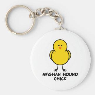 Afghan Hound Chick Keychain