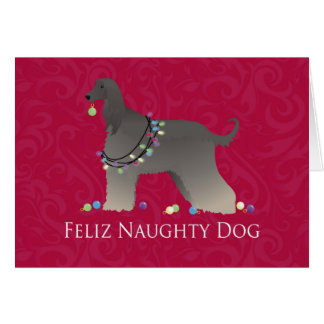 Afghan Hound Christmas Card